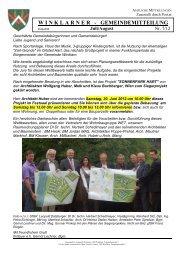 W I N K L A R N E R   - GEMEINDEMITTEILUNG - Gemeinde Winklarn