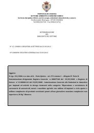 PROVINCIA DI COSENZA SETTORE AMBIENTE E DEMANIO ...