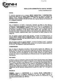 RESOLUCIÓN ADMINISTRATIVA ANH No. 041-312011 La Paz, 29 ...