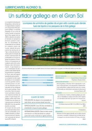 Reportaje: LUBRIFICANTES ALONSO, S.L.: Empresa Gacela - Ardan