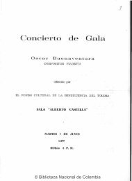 programa de mano - Biblioteca Nacional de Colombia