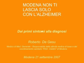 Diapositiva 1 - Comune di Modena