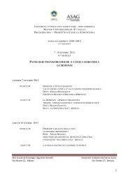 1 PATOLOGIE PSICOGERIATRICHE E CLINICA GERIATRICA LE ...