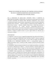 CONTRATO DE LICENCIA PARCIAL DE MARCA - Alimentos ...