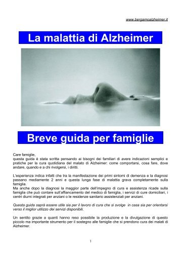 La malattia di Alzheimer Breve guida per famiglie - Bergamo ...