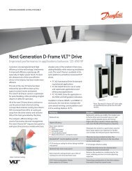 Next Generation D-Frame Fact Sheet - Danfoss