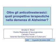 quali prospettive terapeutiche nella demenza di Alzheimer?