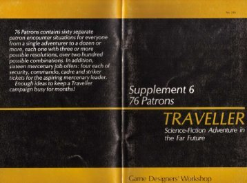 Supplement 6 76 Patrons TRAVELLER Science-Fiction ... - Foolz!