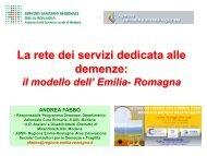 La rete dei servizi dedicata alle demenze - Associazione Geriatri ...