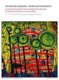 Internationales Symposium - Kindheit und Gesellschaft IV ...