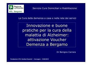 Innovazione e buone pratiche per la cura della malattia di Alzheimer