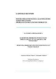 Le demenze: problematiche e nuovi orientamenti in ... - Cultura & Libri