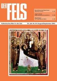 August/September 2003 - Der Fels