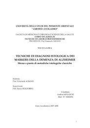 tecniche di diagnosi istologica dei markers della demenza di ...