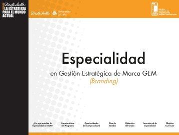 Especialidad en Gestión Estratégica de Marca GEM - Facultad ...