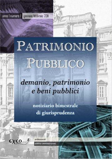 PATRIMONIO PUBBLICO - demanio, patrimonio e beni pubblici - Exeo