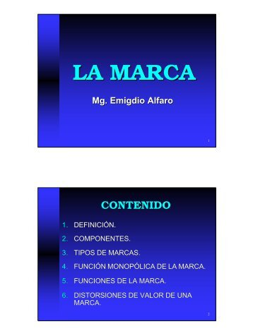 Mg. Emigdio Alfaro LA MARCA