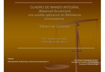 CUADRO DE MANDO INTEGRAL (Balanced ScoreCard) una ... - E-Lis