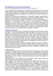 Gli antipsicotici sono sicuri nella demenza? - Farmaci Abruzzo