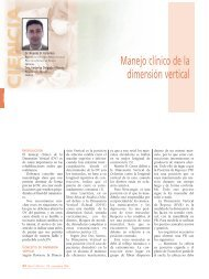 Manejo clínico de la dimensión vertical - Gaceta Dental