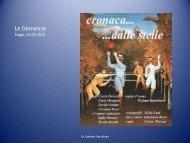 La diagnosi differenziale delle Demenze (dr. Stefano Gambineri)