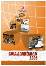 GUIA ACADÊMICO 2008 - Faculdade Salesiana Dom Bosco