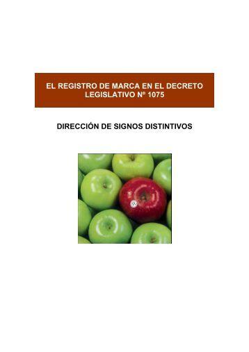 El Registro de Marca en el Decreto Legislativo Nº 1075 - Indecopi