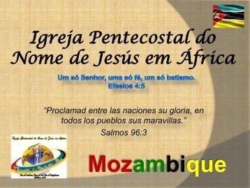 Mozambique - Iglesia Pentecostal Unida de Colombia