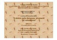 """""""Il dolore nella demenza, strumenti di valutazione"""" - Gorizia"""