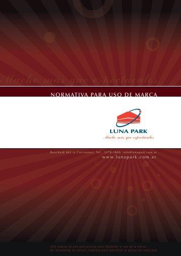 Luna Park - Normativa de Marca con descarga de logotipos online.