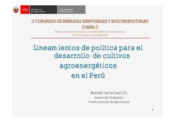Lineamientos de política para el desarrollo de cultivos ...