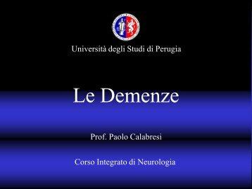 Le Demenze - Università degli Studi di Perugia