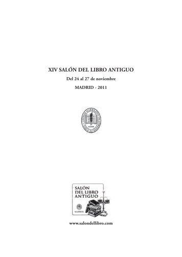 XIV SALÓN DEL LIBRO ANTIGUO - Gremio Madrileño de Libreros ...