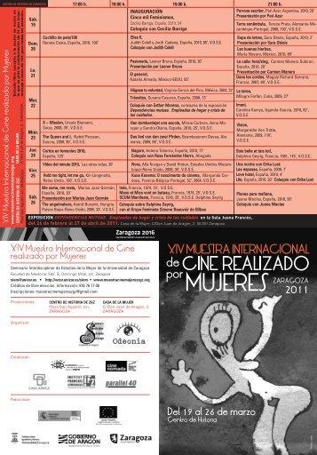 programa mano - Muestra Internacional de Cine realizado por ...