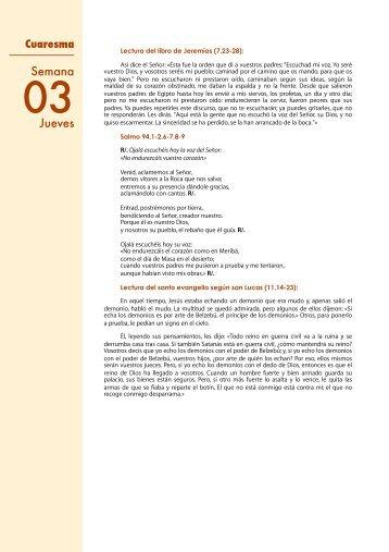 Cuaresma 03 4 Jueves