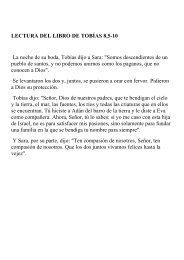 LECTURA DEL LIBRO DE TOBÍAS 8,5-10 La noche de su boda ...