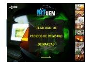 Pedidos de marca - Pró-Reitoria de Pesquisa e Pós-Graduação - UEM