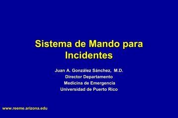 Sistema de Mando para Incidentes - Red Proteger