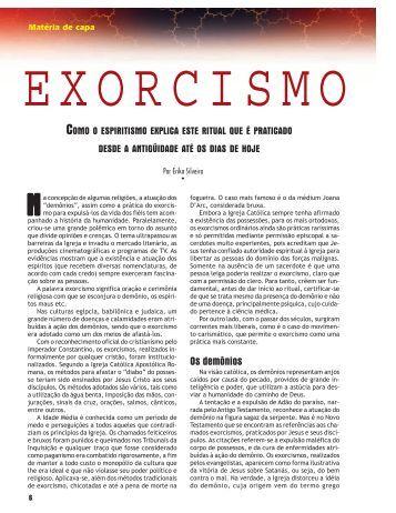 Os demônios - Revista Cristã de Espiritismo