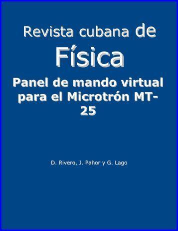 Panel de mando virtual para el microtrón MT-25. Rev. Cub. de Física ...