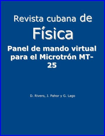 Panel de mando virtual para el microtrón MT-25. Rev. Cub. de Física ...