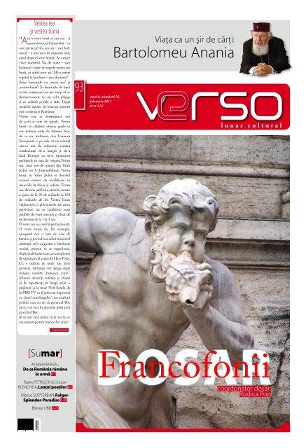 Bartolomeu Anania - Revista VERSO