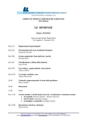GIORNATE MEDICO CHIRURGICHE SARONNESI - sifmedico
