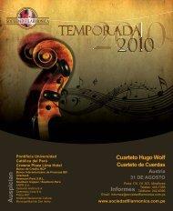 Descargar programa de mano - Sociedad Filarmónica de Lima