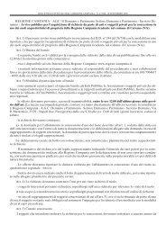 REGIONE CAMPANIA - AGC 10 Demanio e Patrimonio Settore ...