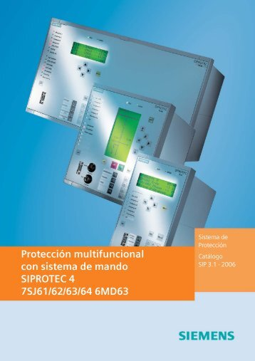 Protección multifuncional con sistema de mando ... - Siemens