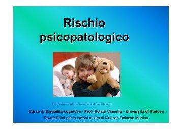 Rischi psicopatologici - Sindrome di Down