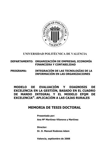 MEMORIA DE TESIS DOCTORAL - RiuNet - Universidad Politécnica ...