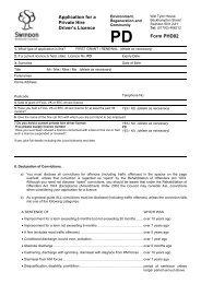 Private Hire Drivers Licence Application - Swindon Borough Council