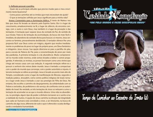 Caridade Evangelização - SSVP Brasil